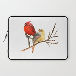 The Perfect Pair - Male and Female Cardinal by Teresa Thompson Laptop Sleeve