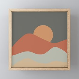Sunrise - Earth Tones Framed Mini Art Print