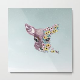 Colorful Bambi Metal Print