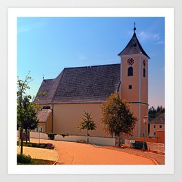 The village church of Sankt Stefan III | architectural photography Art Print