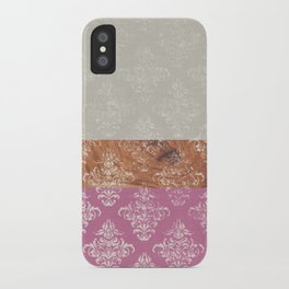Layers Damask Rose iPhone Case