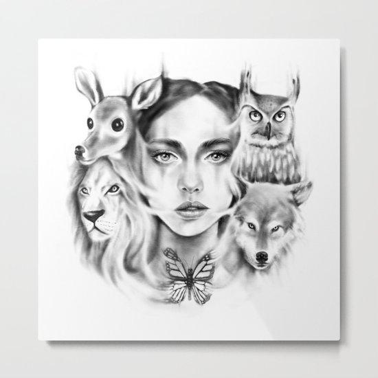 Tangled Existence (Spirit Animals) Metal Print