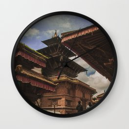 Architecture of Kathmandu City 002 Wall Clock