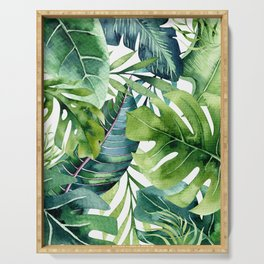 Tropical Jungle Leaves Serving Tray