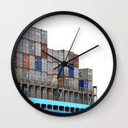 Containers Wall Clock