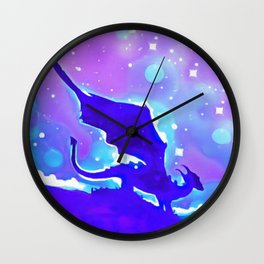 Moon Dragon Wall Clock