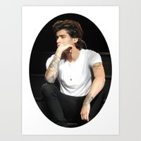 zayn Art Prints featuring Zayn  by clevernessofyou