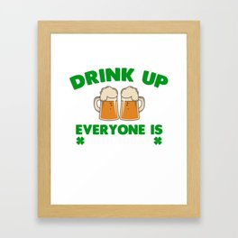 Patrick's Day Gift For Beer Lover Framed Art Print