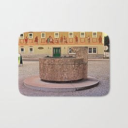 The village fountain of Kronstorf | architectural photography Bath Mat
