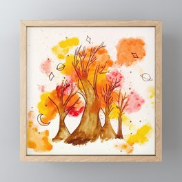 Fall Time Trees Framed Mini Art Print