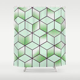 Electric Cubic Knited Effect Design Shower Curtain