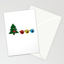 Christmas Tree Chasing Ornament Munchies Stationery Cards