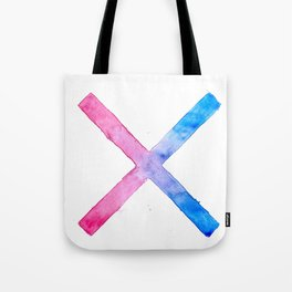 SUICIDE SQUAD HARLEY QUINN INSPIRED RED AND BLUE CROSS. Tote Bag