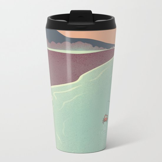 Fishing Face Metal Travel Mug