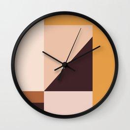 Geometric Color Shapes 1 Wall Clock