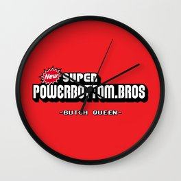 BQ - Super Power Bottom Bros Wall Clock