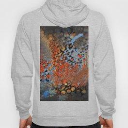 Blue, Orange, Black, Explosion Abstract Hoody