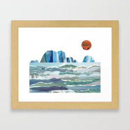 Sea of Ice Framed Art Print