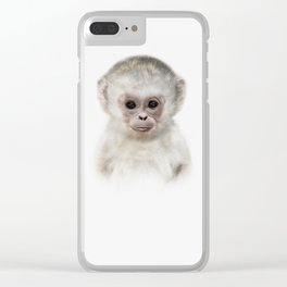 Baby Monkey Clear iPhone Case