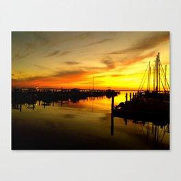 sailor sunset Canvas Print