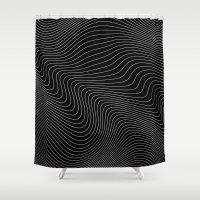 Distortion 017 Shower Curtain
