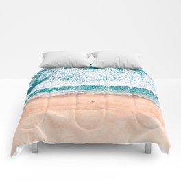 Faded ocean life Comforters