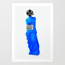 Statue Life TV · Blue Sunday Art Print