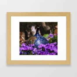 In Dawn's Garden Framed Art Print
