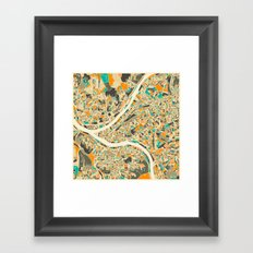 Pittsburgh Map Framed Art Print