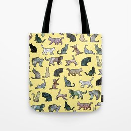 Cats shaped Marble - Sun Yellow Tote Bag