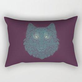 Wolf of Winter Rectangular Pillow