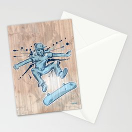 skater hand draw  Stationery Cards