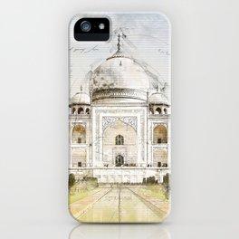Taj Mahal, India iPhone Case