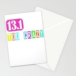 13.1 Half Marathon Funny Gift Idea for Runner Stationery Cards