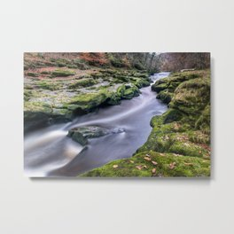 Autumnal Strid Metal Print