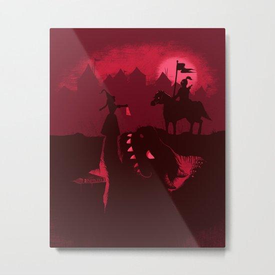 Farewell Brave Knight Metal Print