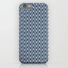 Navy blue chevron pattern is so cute iPhone Case
