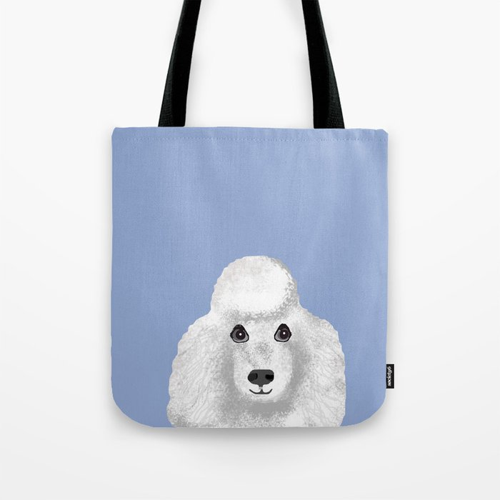 9a9d4ca70378 Toy Poodle white poodle pet portrait custom dog art dog breeds by pet  friendly Tote Bag by petfriendly | Society6