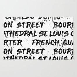 New Orleans Graffiti Rug