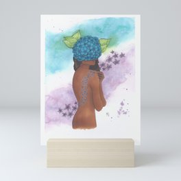Flowers Where Your Face Should Be Mini Art Print