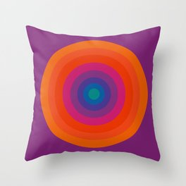 Retro Bullseye Pattern Throw Pillow
