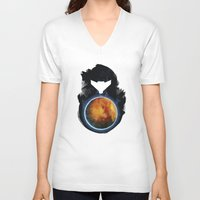 metroid V-neck T-shirts featuring Metroid Prime by Ian Wilding