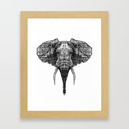 Patterned Elephant Framed Art Print