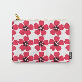 Japanese Sakura Floral Pattern - White Carry-All Pouch