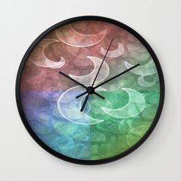 Pastel Stones N Crescent Moons Wall Clock
