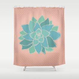 Southwestern Succulent Shower Curtain