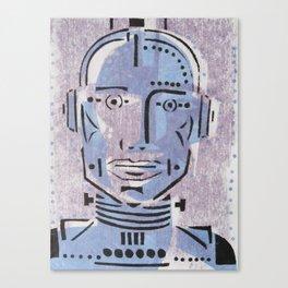 Robot Metropolis Cartoon Face  Canvas Print