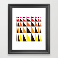 Red Yellow Triangle Pattern Framed Art Print