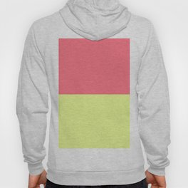 Modern neon lime yellow blush pink coral colorblock Hoody