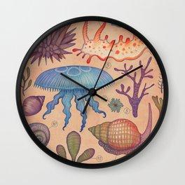 Aequoreus vita II / Marine life II Wall Clock